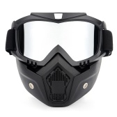Motorcycling Goggles UVA400 Protection Winter Skiing Goggle Riding Skating Sports Goggle with Detachable Mask