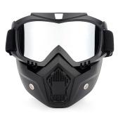 Motorrad-Schutzbrillen UVA400 Schutz Winter Ski Goggle Reiten Skating Sport Goggle mit abnehmbarer Maske