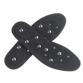 Black EVA Fabric Magnetotherapy Insole Equipped
