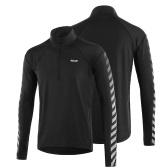 Camisa de manga larga atlética de secado rápido para hombre