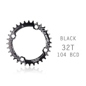 Bicycle Crank 104BCD Round Shape Narrow Wide 32T/34T/36TMTB Chainring Bicycle Chainwheel Bike Circle Crankset Single Plate