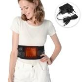 マッサージウエストヒーティングパッドポータブルヒーティングウエストベルト遠赤外線ヒーティングマッサージウエストベルト腹部の背中の痛みを和らげるためのUK / US / EUアダプター