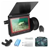 4,3-Zoll-Monitor 1000TVL Fischfinder Unterwasser-Angelkamera 180 Grad Fischfinder-Kamera