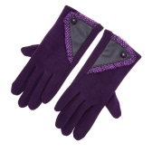 Damen Stylish Lace Screen-Handschuhe Gefüttert starke warme Winterhandschuhe