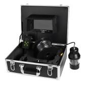 Lixada 1000TVL sotto pesca fotocamera portatile impermeabile 18 LED 360 gradi di rotazione fotocamera Fish Finder 7 pollici monitor LCD 20 m / 50 m / 100 m cavo