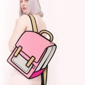 Multicolor Optional 3D Jump Style 2D Drawing From Cartoon Type Shoulder Bag