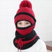 Мода женщин зима Beanies вязаная шляпа утолщенная шерстяная крышка