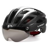 Capacete de ciclismo respirável Lixada com óculos magnéticos Mulheres Homens Capacete de segurança leve Capacete de bicicleta para mountain bike Road bike