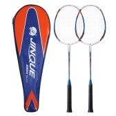 Racchetta da badminton per 2 giocatori Racchetta leggera per badminton in carbonio con borsa per racchetta