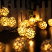 2.2 Meters Rattan Ball LED String Lights
