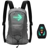 Беспроводная светодиодная сигнальная лампа Индикатор направления USB Аккумуляторная светодиодная сигнальная лампа для рюкзака Прикрепленный свет