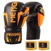 Boxhandschuhe mit Handgelenkstützgurten Kickboxen Muay Thai Punching Training Bag Handschuhe Verstellbare Handwickel Outdoor Sports Fäustlinge Boxübungsgeräte für Boxsack Sack Boxpads 12oz