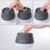 TOMSHOO LED linterna lámpara que acampa al aire libre senderismo luz carpa portátil lámpara de noche con mango