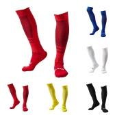 1 Par de Capilaridad respirable del desgaste de la rodilla de alta resistencia al fútbol del fútbol medias de compresión calcetines de rayas calcetines de algodón