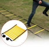TOMSHOO 11 Rung Wohnung justierbare Geschwindigkeits-Koordinationsleiter Sport Speed Training Übung Leiter mit kostenlosen Tragetasche