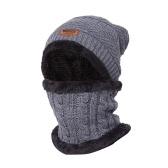 Warme Strickmütze Schal Set
