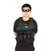 Máxima carga 50kg peso chaleco ajustable ponderada chaqueta ejercicio boxeo formación chaleco Invisible Weightloading arena ropa (vacía)