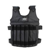 Макс, загрузка 20 кг регулируемый взвешенный жилет вес куртка упражнения бокс подготовки жилет невидимый Weightloading песок одежда (пусто)