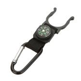 Outdoor, Camping, Wandern, Reisen Hook Karabiner Kompass Wasserflasche Schnalle Halter Clip