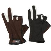 Спорт на открытом воздухе регулируемые дышащая против скольжения 3 низк отрезало пальцы перчатки Рыбалка