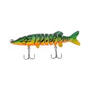"""Lixada 5""""/ 12,5 cm 20g realistici 9 multi-snodato-segement Pike Muskie pesca esca Swimbait Crankbait duro esca pesce gancio Treble Tackle"""
