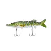 """Lixada 5""""/ 12,5 см 20g реалистичные мульти составник 9-сегмента щука маски рыбалка воблер приманка Swimbait жесткий приманки рыбы тройной крючок снасти"""