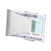 Lixada  Money Clip Schlanke Edelstahl beidseitig Cash Clip Personalausweis Kreditkarteninhaber