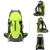 50L impermeabile Outdoor Sport Escursionismo Trekking Campeggio viaggio Pack alpinismo arrampicata zaino con parapioggia