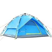 3-4 человек двойные слои водонепроницаемый дышащий автоматические палатка с мешком