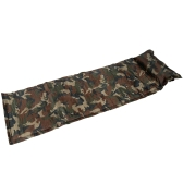 Outdoor Camping Camouflage Automatic Inflatable Mattress One Person Self-Inflating Moistureproof Tent Mat with Pillow