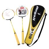 2pcs formazione Badminton racchetta racchetta con Carry Bag Sport attrezzature Lightweight durevole