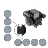 1X33 roja y verde puntos de vista iluminada Tactical Laser Riflescope Caza Óptica Lente Reflexivo con interruptor de la cola