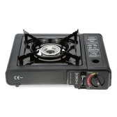 Second Hand 2.3KW Portable Gas Stove with Carrying Box Piezo Ignition Gas Burner for BBQ Chafing dish Stir-fry Stewing