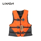 Seconda mano Lixada Professional Polyester Adult Safety Life Jacket Survival Canottaggio Canottaggio Nuoto alla deriva con fischietto d'emergenza