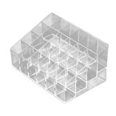 24 Trapezoid Clear Makeup Display Lipstick Stand Case Caso Cosmetic Organizer