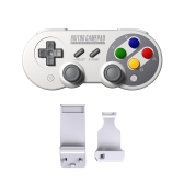 8Bitdo SF30Pro Wireless Game-controller + X Mecha Stretch-fixing Game Handle Holder Set