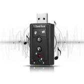7.1-kanałowa zewnętrzna karta dźwiękowa USB Adapter audio 2-w-1 USB2.0 pełna i szybka drukarka typu Plug and Play dla komputerów PC przenośnych