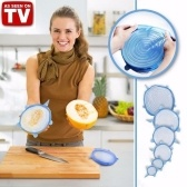 INSTA LIDS 6 PCS Kitchen Silicone Stretch Suction Pot Cooking Stopper Cover