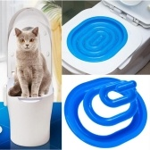 Plastic Toilet Training Kit for Cats Cat Litter Mat Toilet Trainer Cleaning Tool