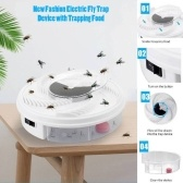 Electric Fly Trap Device with Trapping Food USB Rechargeable