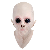 Realistic UFO Alien Mask Halloween Decoration