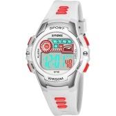 SYNOKE 9738 Criança Assista Relógio Do Esporte Luminoso Alarme Digital À Prova D 'Água Relógio de Pulso kid Assista