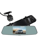 Lente dupla da tela de toque do carro DVR do espelho de Rearview de 5 polegadas IPS 1080P