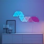 9PCS RGBW Smart Tangram Paysage Puzzle LED Lumière (version de contrôleur APP)