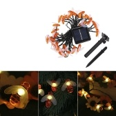 Tomshine 30LEDs 6.3M/20.7Ft Solar Powered Bee String Light Lawn Lamp