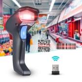 2.4G Wireless Wireless Handheld 1D 2D QR Barcode Leitor de código de barras com receptor