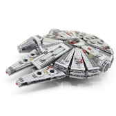 Caja original LEPIN 05007 1381pcs Star Wars Millennium Falcon Force Awakens - Star Wars Spaceship Juego de bloques de construcción