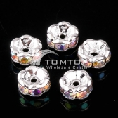 6MM COLORFUL CRISSTAL SPACER BEADS FINDINGS 10pcs jlm76
