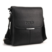 Uomini Vintage Borsa a tracolla PU morbido in pelle Flap Top Business Casual valigetta Messenger Bag nero/caffè/marrone