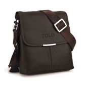 Vintage Men Shoulder Bag Soft PU Leather Flap Top Casual Business Briefcase Messenger Bag Black/Coffee/Brown